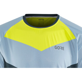 GORE WEAR C5 Trail Maillot manga larga Hombre, deep water blue/cloudy blue